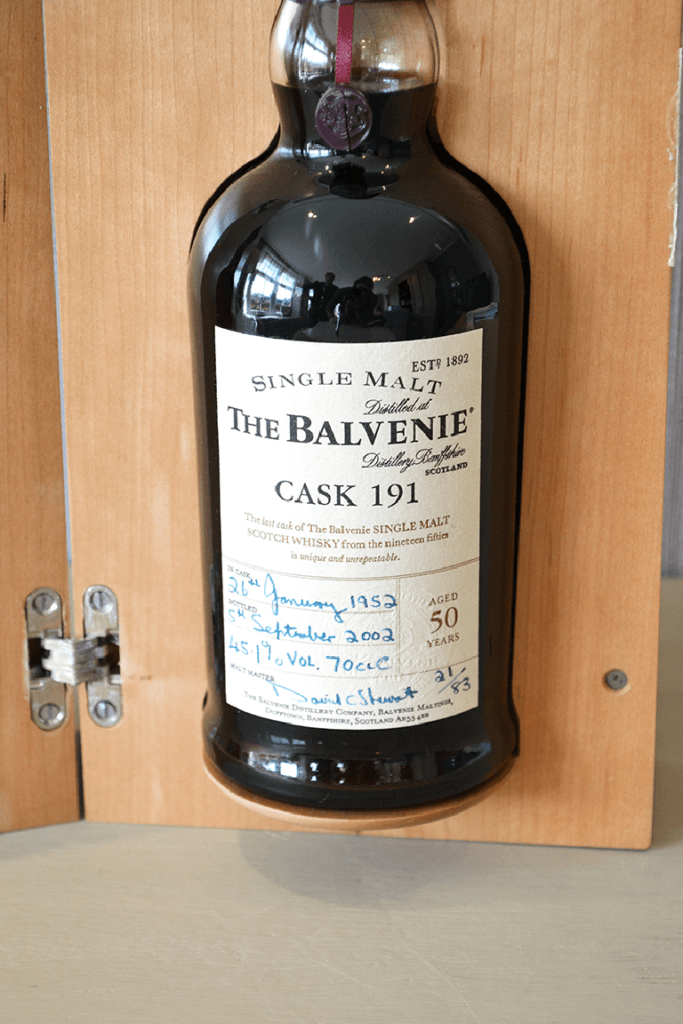 Balvenie Cask 191 bottle