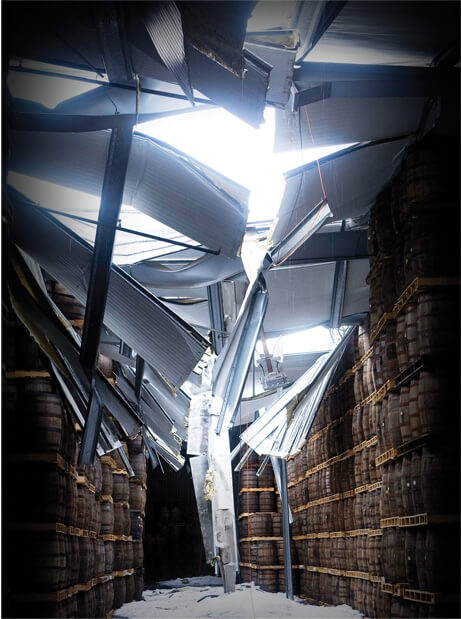 Collapsed Glenfiddich Warehouse