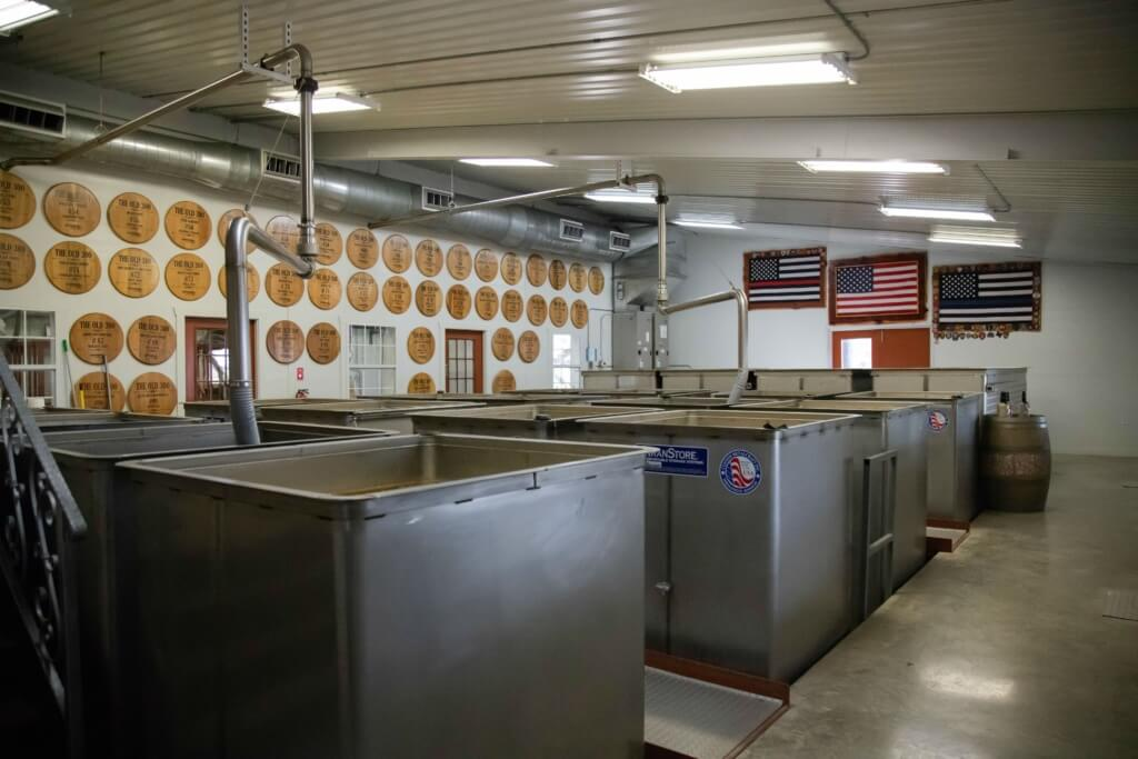 Mash house at Garrison Brothers