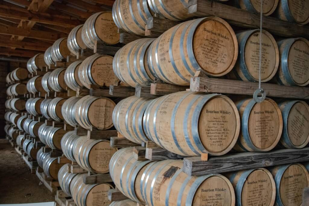 Rickhouse at Garrison Brothers Distillery